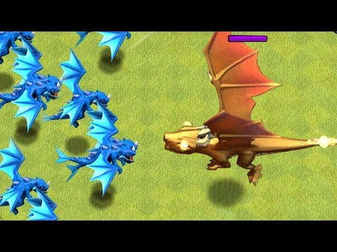 E. DRAGONS x9 vs. GIANT GOLD DRAGON!!
