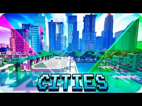 Minecraft - TOP 5 Best Cities in Minecraft - Modern and Futuristic City Maps
