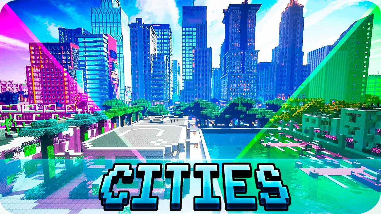 Minecraft - TOP 11 Best Cities in Minecraft - Modern and Futuristic City Maps