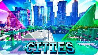 Minecraft   TOP 5 Best Cities In Minecraft   Modern And Futuristic City Maps
