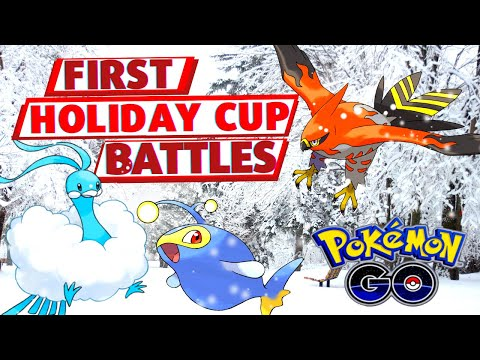 FIRST HOLIDAY CUP BATTLES   Pokemon GO Battle League Practice Battles ft. Twinstinct