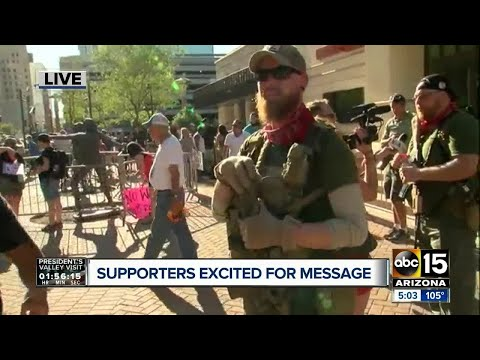 "Armed men show up outside Donald Trump rally to ""keep peace"""