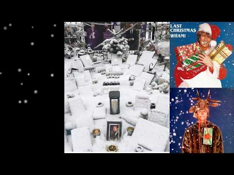 George Michael's Tribute Garden in the snow. Highgate Dec. 10 2017 - Last Christmas (Live)