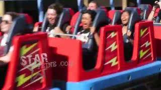 'The Bachelor' Ben Higgins and his fiance Lauren Bushnell enjoy the thrill rides at Disneyland