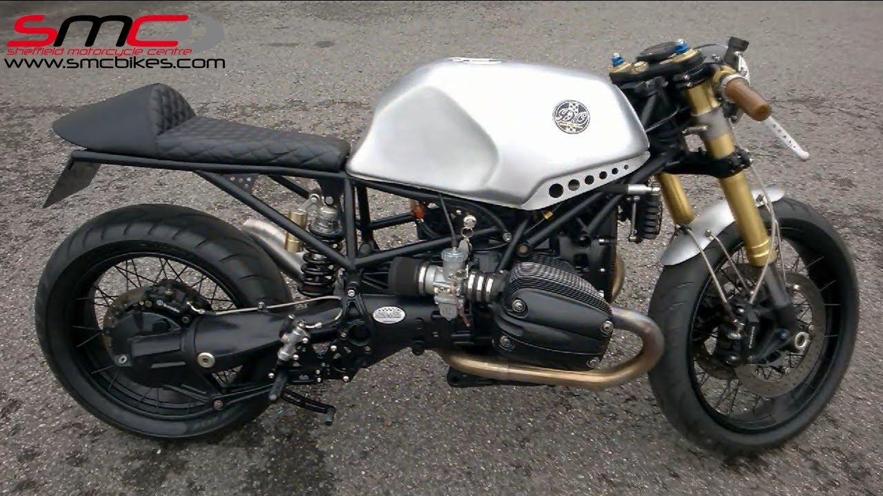 bmw r1150 based cafe racer custom bike - youtube