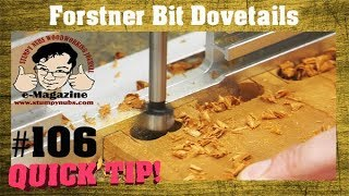 Can you cut dovetails with a drill press and forstner bit?