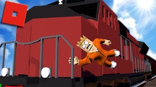 ROBBING THE TRAIN IN ROBLOX JAILBREAK