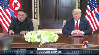 [HD]Trump, Kim sign agreement after North Korea summit; war games put on hold 12/6/18