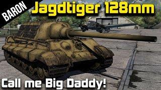 War Thunder - JagdTiger 128mm, The Big Daddy Panzer (War Thunder 1.43 Tanks Gameplay)