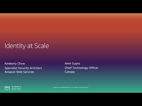AWS Summit Online ASEAN 2020 | IAM: Best Practices for Managing Identity With AWS