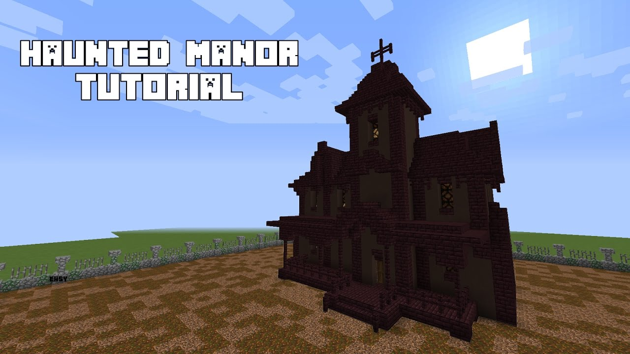 Minecraft how to build a haunted house tutorial youtube for Build a haunted house