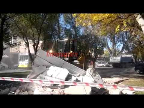 Demolieron un kiosco de la lotería en Avenida Olascoaga