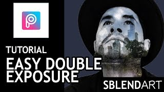 Picsart editing video tutorial-  Double Exposure  in 4 steps! photo editing lesson