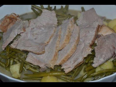 rôti-de-porc-haricots-verts-pommes-de-terre-cookeo