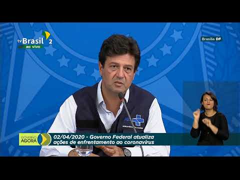 Coletiva de Imprensa no Palácio do Planalto sobre Covid-19