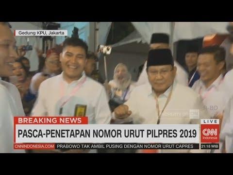 Prabowo Kembali Berjoget Usai Penetapan Nomor Urut Pilpres 2019