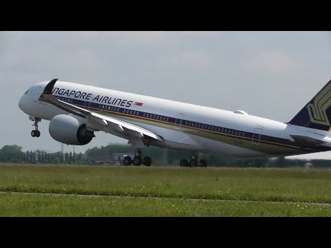 **90 MINUTES** of Planes at Amsterdam Schiphol Airport - Inc. Singapore A350