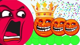 Agar.io FASTEST 1st Place Solo Take Over Troll King Agar.io Mobile Best/Funny Gameplay!