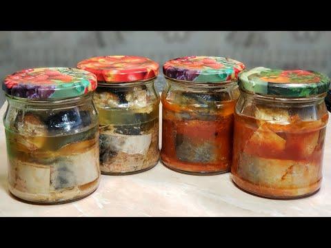 Консервы из скумбрии в домашних условиях в томате на зиму