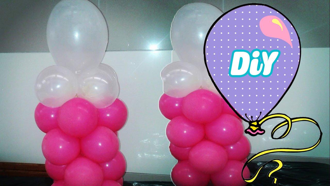 Como Fazer Mamadeira De Balão Decoração Para Chá De Bebê Youtube