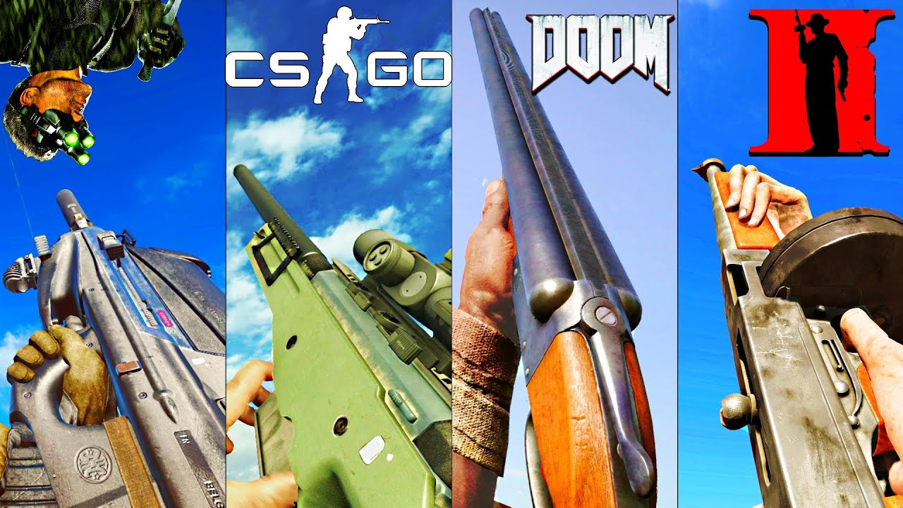 Playing with ICONIC VIDEO GAME Guns in different Battlefield Games thumbnail