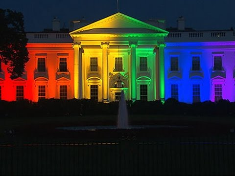 Image result for white house in rainbow colors