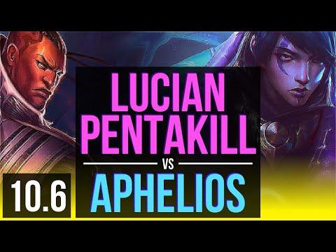 LUCIAN & Morgana vs APHELIOS & Thresh (ADC)   Pentakill, KDA 16/4/10   EUW Challenger   v10.6