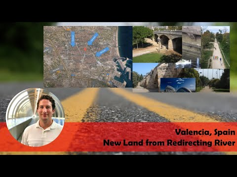 Valencia, Spain - New Land from Redirecting River - Highway