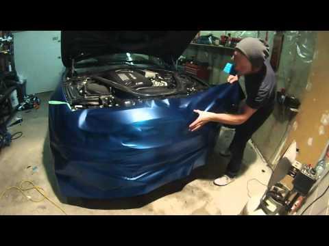 Vinyl wrap time lapse BMW M4 Frozen blue chrome vinyl wrap, blue chrome, vinyl wrap. By @ckwraps
