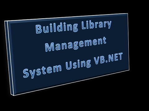 Developing Library Management System in VB.NET