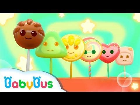 Rainbow Lollipops | Numbers Song,  Color Song | Nursery Rhymes | Kids Songs | Kids Cartoon | BabyBus