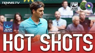 Hot Shot: Federer Rips Backhand Winner Halle 2018
