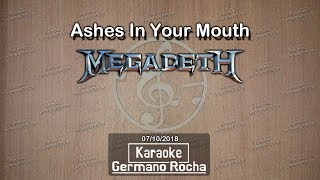 Megadeth - Ashes In Your Mouth (Karaoke)