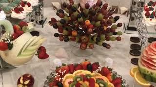 Wedding party (sweets desserts, fruits) Оформление фруктового и  сладких столов