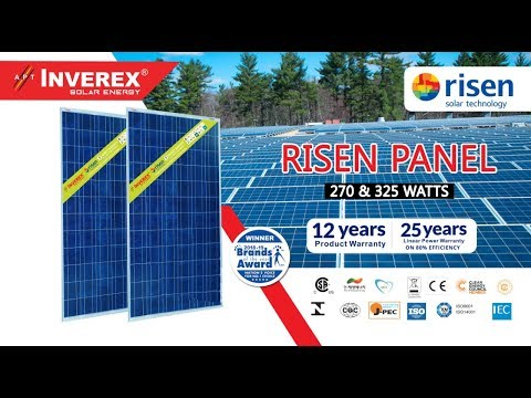 Risen Solar Panels Price In Pakistan Invterex Risen 325w And Risen 270w Dgk7 Youtube