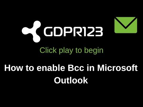 How to Enable Bcc in Microsoft Outlook 2016
