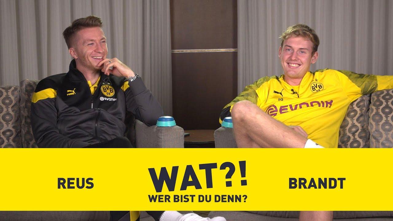 Marco Reus Julian Brandt Who Am I Bvb Challenge Youtube