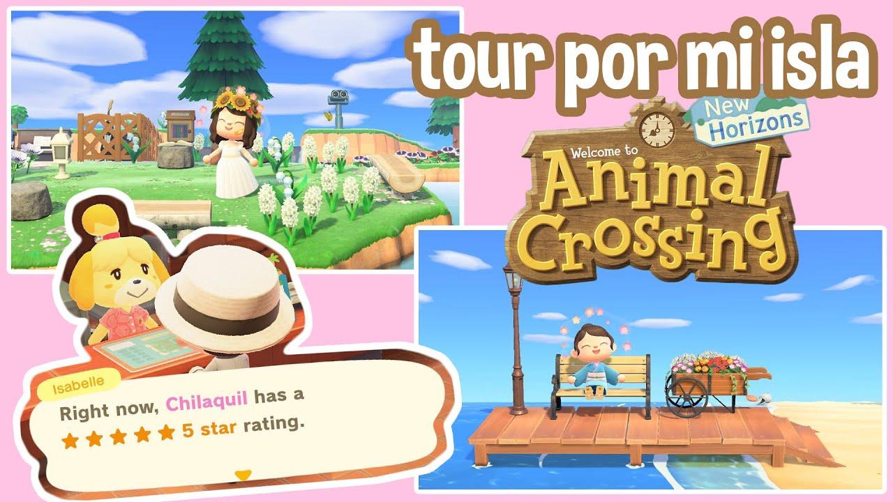 TOUR POR MI ISLA DE 5 ESTRELLAS - Animal Crossing New Horizons | Juli