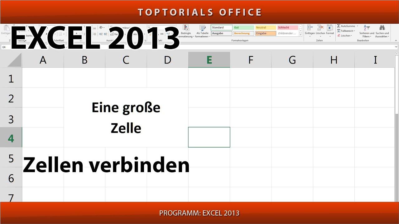 ZELLEN VERBINDEN in Excel (waagerecht und/oder senkrecht) - YouTube