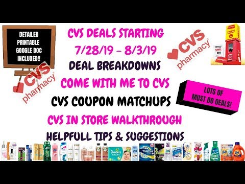 TONS OF FREE & CHEAP😍CVS COUPON MATCHUPS DEALS STARTING 7/28/19|DEAL BREAKDOWNS|COME WITH ME TO CVS