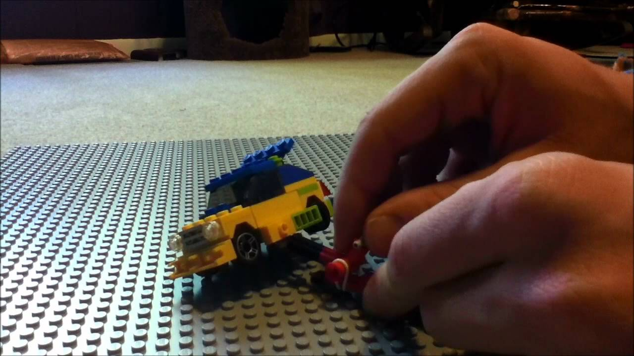 Lego Mini Figure Floor Jack Mini Rally Car Youtube