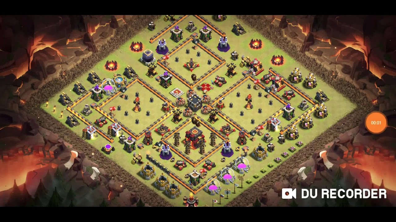 Coc Th 10 War Base Anti 3 Star 6