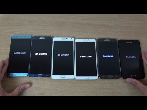 Samsung Galaxy Note 7 vs Note 5 vs Note 4 vs Note 3 vs Note 2 vs Note - Which is Fastest?