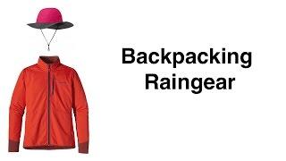 Backpacking Raingear