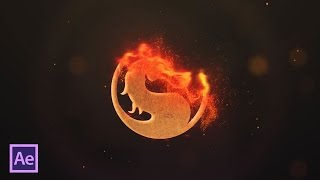 Анимация появления лого и текста в огне в After Effects (Fire Logo and Text in After Effects)