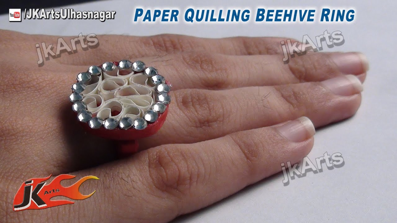 DIY Beehive Paper Quilling Jewelry Ring | How to make | JK Arts ...