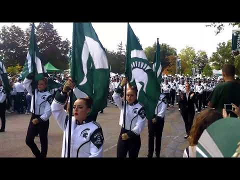 Spartan Marching Band March To Stadium 2017
