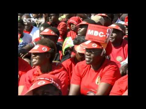 Zimbabwe MDC's  Morgan Tsvangirai Holds Final Campaign Rally