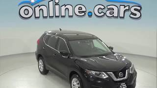 A96827TA Used 2017 Nissan Rogue S AWD SUV Black Test Drive, Review, For Sale