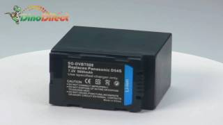 Replacement Digital Camcorder Battery 7.2V 5400mAh for Panasonic D54S from